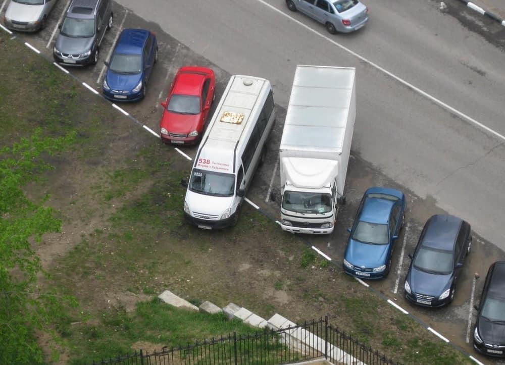 Штрафы за неправильную парковку грузовиков